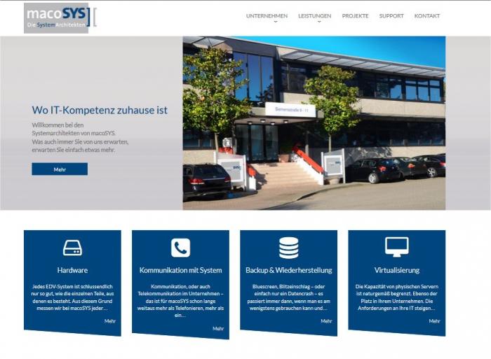 Screenshot macosys.de