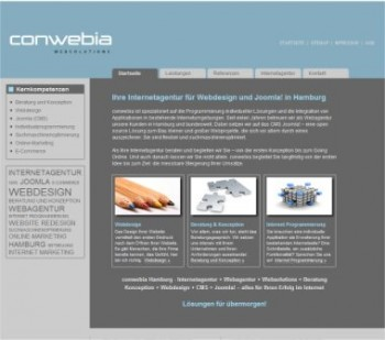 Screenshot Conwebia.de