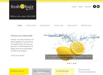 Screenshot freshhair24.de