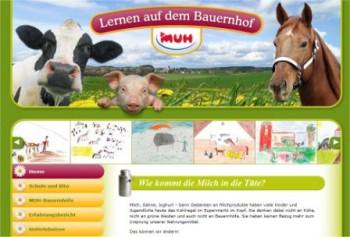 Screenshot Lernen auf dem Bauernhof.de