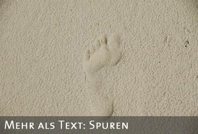 Fu�spur im Sand
