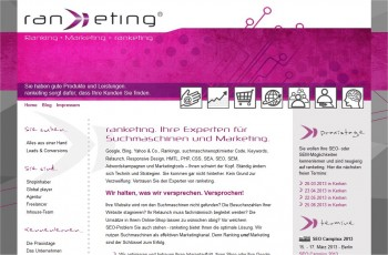 Screenshot Homepage ranketing.de