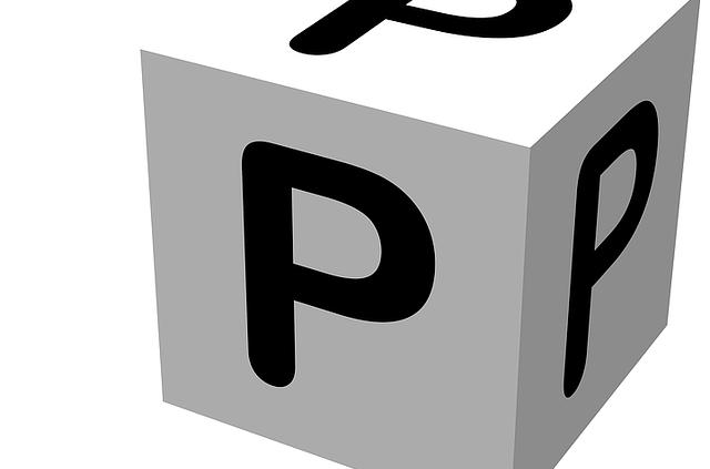 Würfel mit P auf allen Seiten