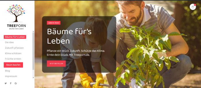 Screenshot von treeporn.de